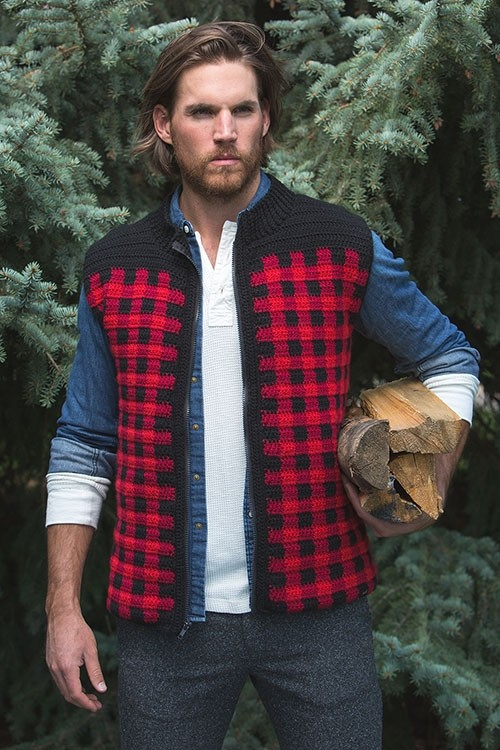 Crochet Pattern - Woodcutter's Vest by Jennifer Pionk