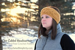 Free Crochet Pattern – Chic Cabled Headwarmer