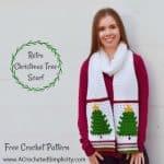 Free Crochet Pattern – Retro Christmas Tree Scarf