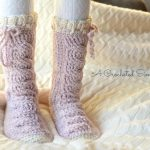 Crochet Pattern - Big Bold Cabled Slipper Socks by A Crocheted Simplicity