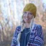 Crochet Pattern - Cascading Cables Beanie by A Crocheted Simplicity