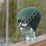 """Crochet Pattern - """"Knit-Look"""" Cabled or Not Beanie by A Crocheted Simplicity"""
