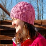 "Crochet Pattern - ""Knit-Look"" Cabled Hearts Beanie by A Crocheted Simplicity"