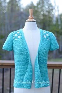 Join A Crocheted Simplicity for the Marielle Cardigan Crochet Along! Check the blog post for all details!