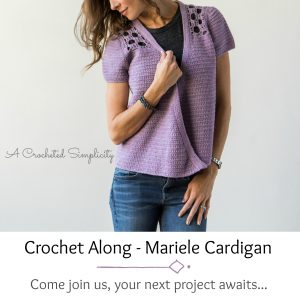 Join us for the Marielle Cardigan Crochet Along