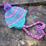 "Crochet Pattern - ""Perfectly Plaid"" Beanie & Earflap Hat by A Crocheted Simplicity"