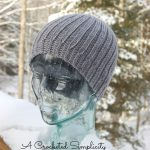 Crochet Pattern - Men's Reversible Knit-Look Beanie by A Crocheted Simplicity