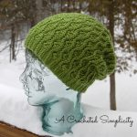 """Crochet Pattern - """"Winter Waves"""" Reversible Beanie & Slouch by A Crocheted Simplicity"""