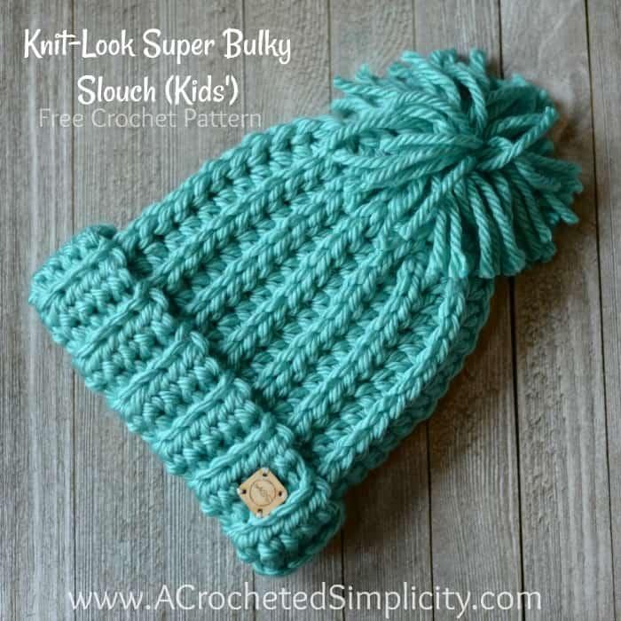 af43e84afc4 Free Crochet Pattern - Knit-Look Super Bulky Slouch (Kids ) - A ...