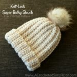 Free Crochet Pattern - Knit-Look Super Bulky Slouch by A Crocheted Simplicity#crochet #knitlookcrochet #crochetslouch