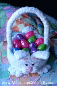 Free Crochet Pattern - Cottontail Easter Bunny Basket by A Crocheted Simplicity