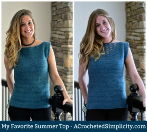 Free Crochet Pattern - My Favorite Summer Top by A Crocheted Simplicity