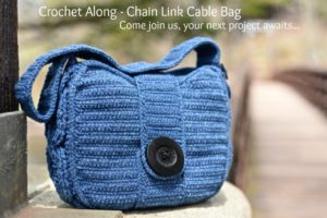 Join us for the Chain Link Cable Bag Crochet Along