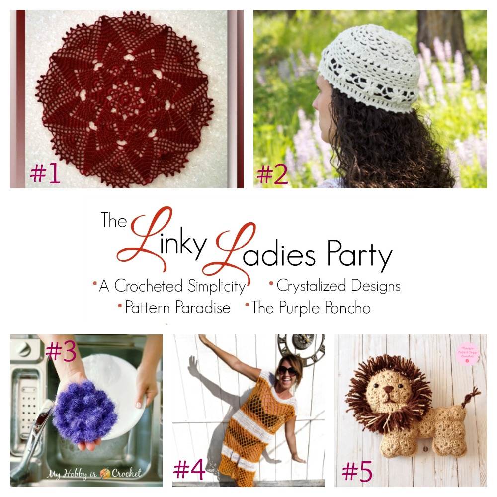 b1acf8d487 The Linky Ladies Party #135 - A Crocheted Simplicity