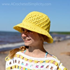 Makin' Lemonade Sunhat – Free Crochet Pattern *Doll & Kids' Sizes