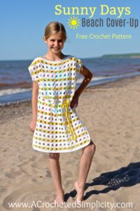 "Free Crochet Pattern - Sunny Days Crochet Beach Cover-up (18"" Doll, Child & Adult Sizes) by A Crocheted Simplicity"
