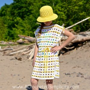 "Free Crochet Pattern - Sunny Days Beach Cover-up (18"" Doll, Child & Adult Sizes) by A Crocheted Simplicity"
