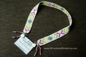 Boho Chic Crochet Lanyard – Free Crochet Pattern