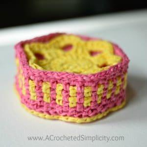 Free Crochet Pattern - Flower Drink Coasters & Caddy by A Crocheted Simplicity #crochet #freecrochetpattern #crochetcoaster