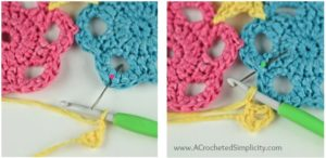 Free Crochet Pattern - Strawberry Lemonade Tote Bag by A Crocheted Simplicity #crochet #freecrochetpattern #crochettotebag