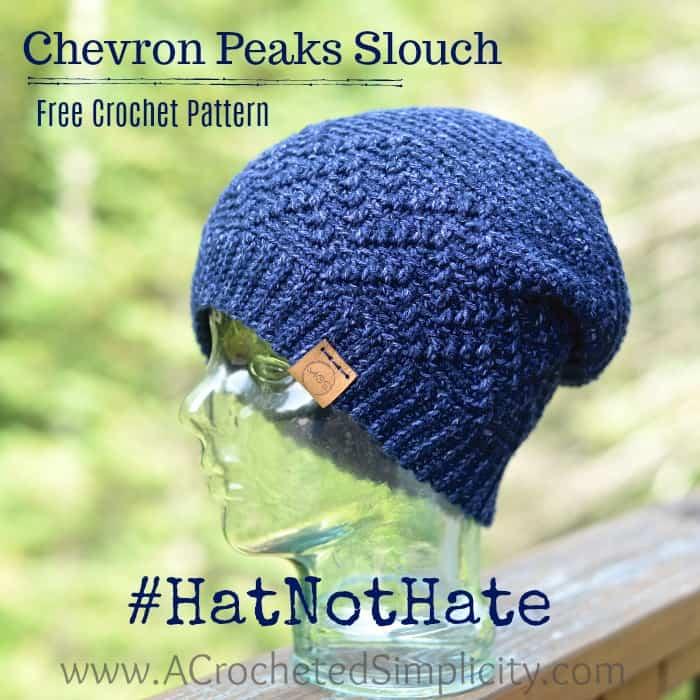 Chevron Peaks Slouch Crochet Pattern Hatnothate A Crocheted