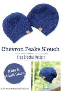 e3c699bcb3f Free Crochet Hat Pattern - Chevron Peaks Slouch by A Crocheted Simplicity  part of the