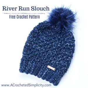 Free Crochet Pattern - River Run Slouch by A Crocheted Simplicity part of the #HatNotHate campaign #crochet #stompoutbullying #crochethat