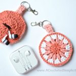 Free Crochet Pattern - Earbud Holder, Chapstick Holder, Charger Holder, Change Purse, Fidget Spinner Holder by A Crocheted Simplicity #freecrochetpattern #crochet