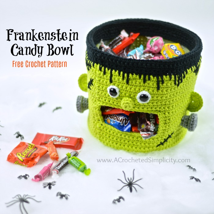 Frankenstein Candy Bowl Free Crochet Pattern A Crocheted Simplicity
