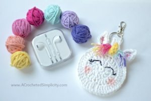 Unicorn Earbud Holder – Free Crochet Pattern
