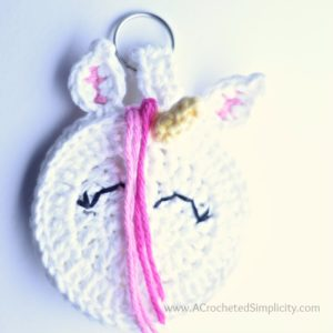 Free Crochet Pattern - Unicorn Earbud Holder by A Crocheted Simplicity #crochet #earbudholder #earbudcase #crochetpattern #handmade