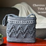 Free Crochet Pattern - Chevron Bobble Tote Bag by A Crocheted Simplicity