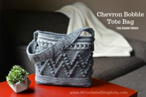 Chevron Bobble Tote Bag – Free Crochet Pattern