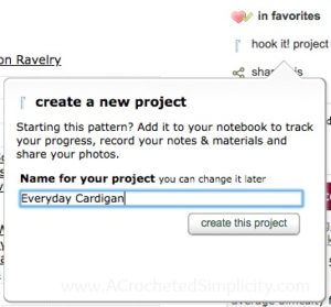 How to Create a Project Page on Ravelry - a tutorial by A Crocheted Simplicity