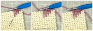 How to Crochet the Spike Stitch - A Step-by-Step Tutorial by A Crocheted Simplicity#crochet #crochetstitch #crochetspikestitch