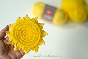The Sun's Out! Dish Scrubby – Free Crochet Pattern