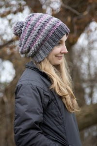 Crochet Pattern - Verity Beanie, Slouch & Messy Bun by Crystalized Designs