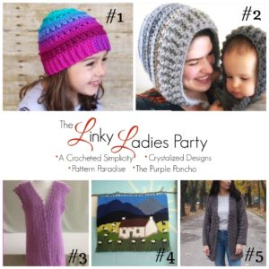 Come join us for The Linky Ladies community link party! Enter for a chance to win a $25 Amazon gift card simply by linking up your knit or crochet project! #link party #crochetlinkparty #knitlinkparty