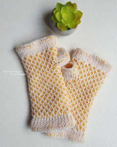 Free Crochet Pattern - Chic Fingerless Gloves by The Purple Poncho