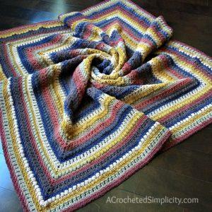 Centaur Mandala Afghan Free Crochet Blanket Pattern A Crocheted