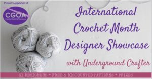 Join us for the 2019 International Crochet Month Designer Showcase! Free crochet patterns, discounts & prizes!