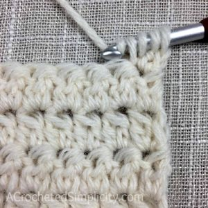 Learn to Crochet the Alternate Double Crochet Cluster Stitch - Crochet Tutorial by A Crocheted Simplicity #crochetstitchtutorial #chainlesscrochetstitch #crochetclusterstitch #doublecrochetcluster #freecrochettutorial