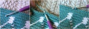 Moroccan Grocery Bag Holder - Free Crochet Plastic Bag Holder by A Crocheted Simplicity #crochet #handmade #grocerybagholder #plasticbagholder #freecrochetpattern #crochetgrocerybagholder #crochetforhome #tapestrycrochet