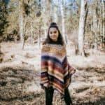Free Crochet Pattern - Wasilla Poncho by A Crocheted Simplicity #freecrochetpattern #crochetponcho #crochet #womensponcho #lionbrandmandala #crochetponchopattern