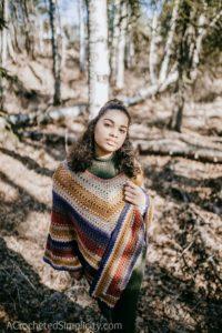 Wasilla Poncho – Free Crochet Poncho Pattern