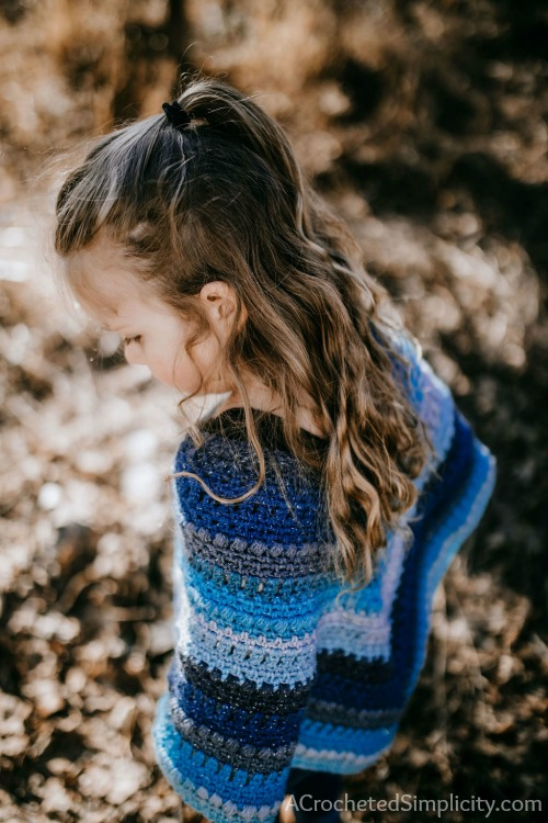 Wasilla Poncho for Girls - Free Crochet Poncho Pattern - A