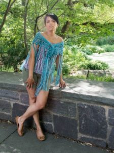 Free Crochet Pattern - A Little Bit of Bling Shawl by Underground Crafter