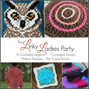 Come join us for The Linky Ladies community link party! Enter for a chance to win a $25 Amazon gift card simply by linking up your knit or crochet project! #link party #crochetlinkparty #knitlinkparty #fiberarts #linkparty
