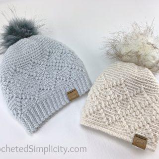Argyle Beanie & Slouch - Free Crochet Hat Pattern by A Crocheted Simplicity #freecrochetpattern #crochet #freecrochethatpattern #crochetbeanie #crochethat #crochetslouch