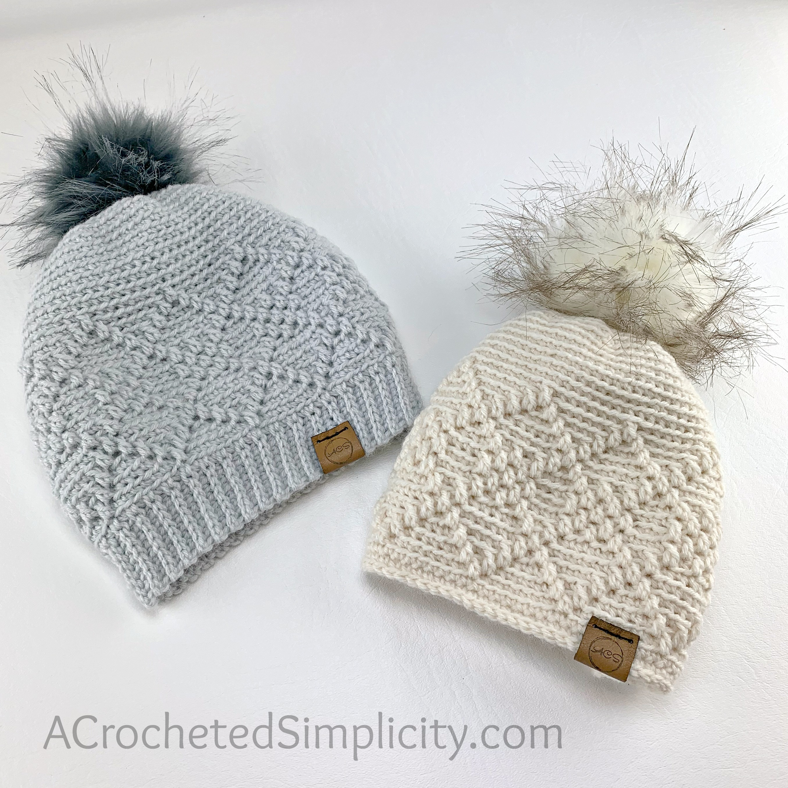 Learn how to crochet the Argyle Beanie & Slouch by A Crocheted Simplicity #freecrochethatpattern #crochetbeaniepattern #crochetbeanie #crochetslouch